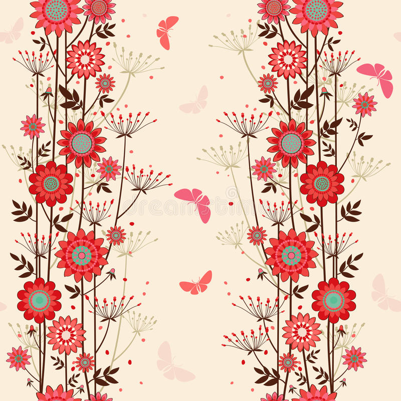 Free Vector Fond Decorative Flowers Royalty Free Stock Image - 40597396