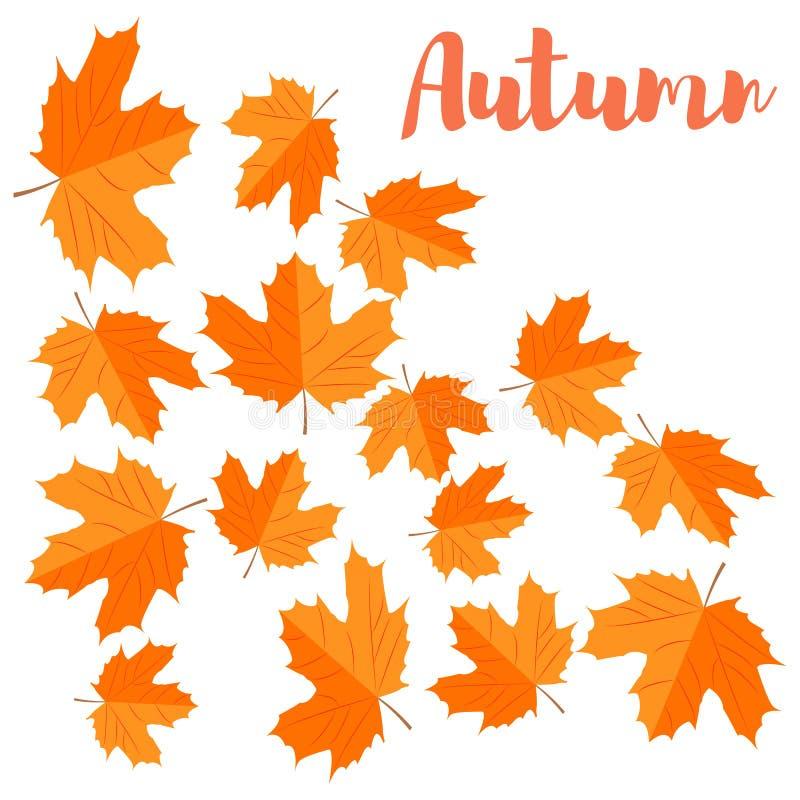 Vector Fondo del otoño Hojas de arce amarillas que caen libre illustration