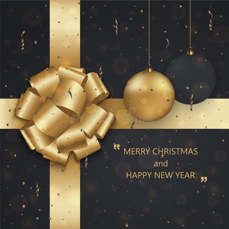 Vector fondo della carta dell'invito di vacanza invernale buoni anni di 2018 o di Natale moderno illustrazione di stock