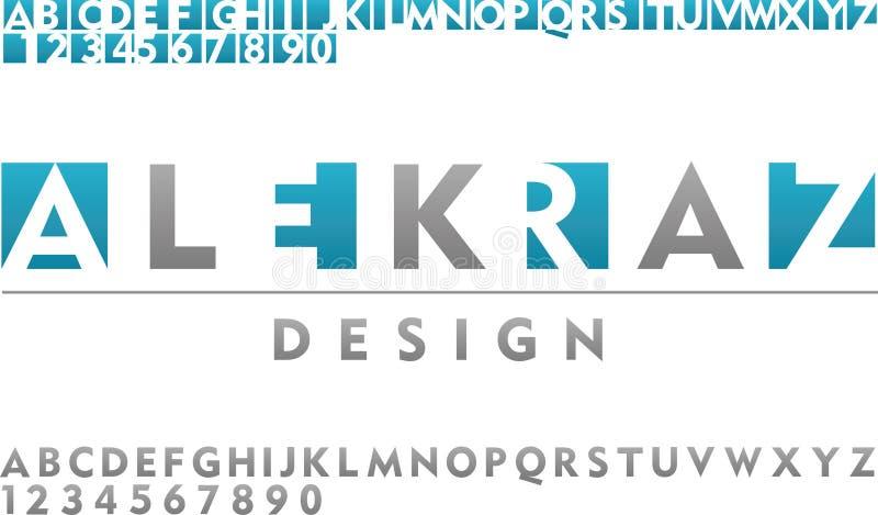 Vector font type for logo design stock illustration