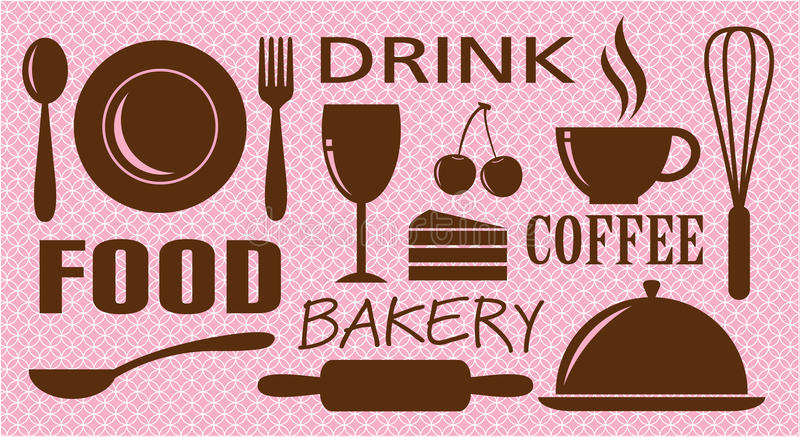 Download Vector Of Food,drink,bakery And Coffee Stock Vector - Image: 17407918