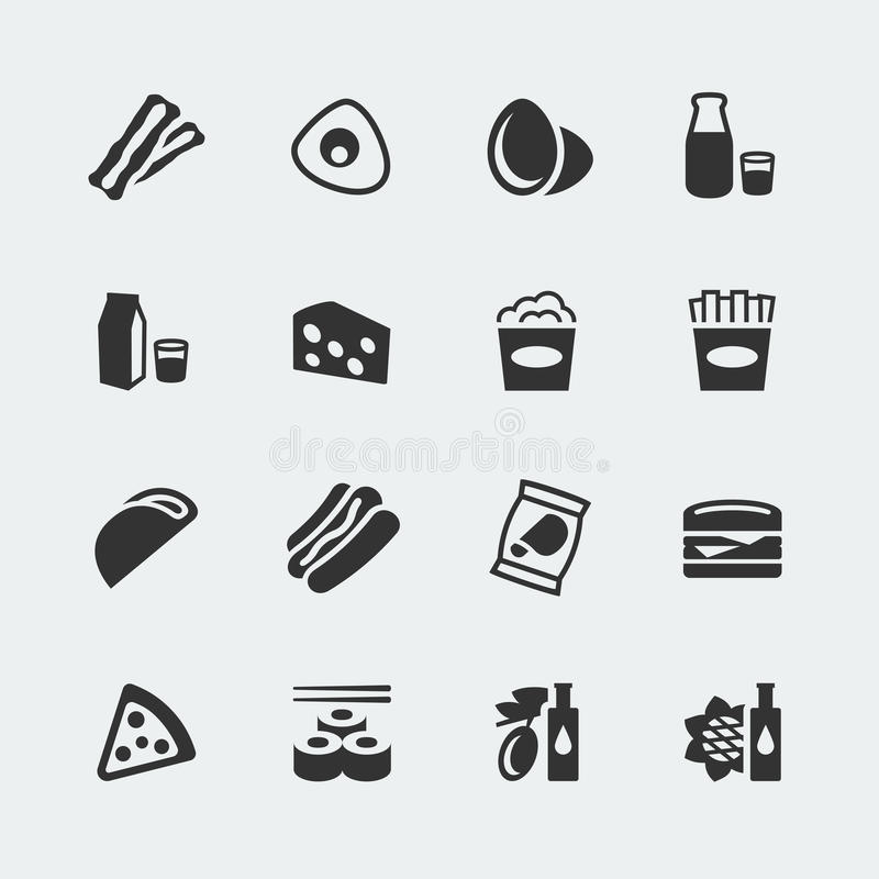 Vector food icons set #2. Vector food mini icons set #2 stock illustration