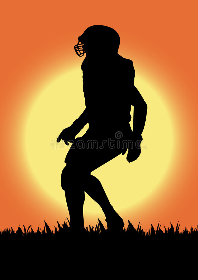 Vector Football Player Silhouette Royalty Free Stock Photo