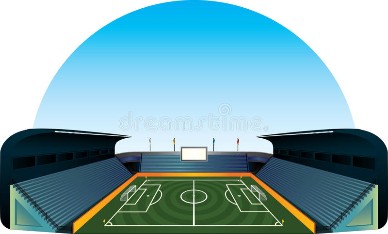 Vector football soccer field stadium vector illustration