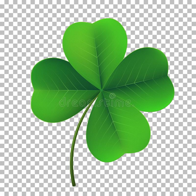 Free Vector Four-leaf Shamrock Clover Icon. Lucky Fower-leafed Symbol Of Irish Beer Festival St Patrick`s Day Royalty Free Stock Image - 111047836