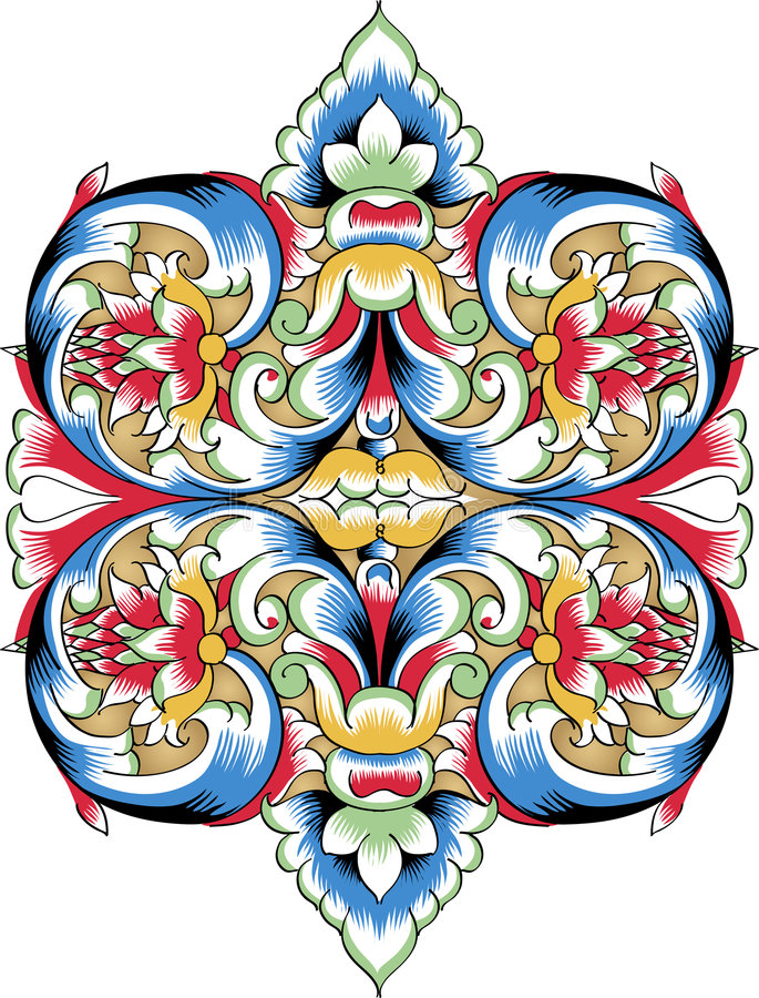 Free Vector Fragment Of Orthodox Ornamental Pattern Stock Images - 7712524