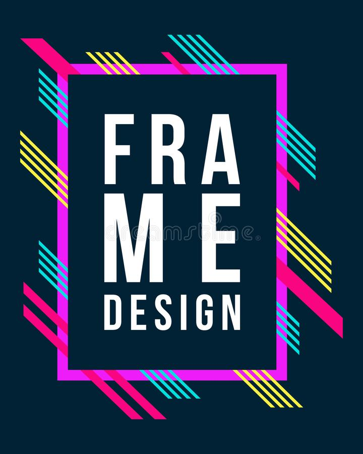 Vector Frame Art Graphics For Hipsters Design Business Card Stock ...