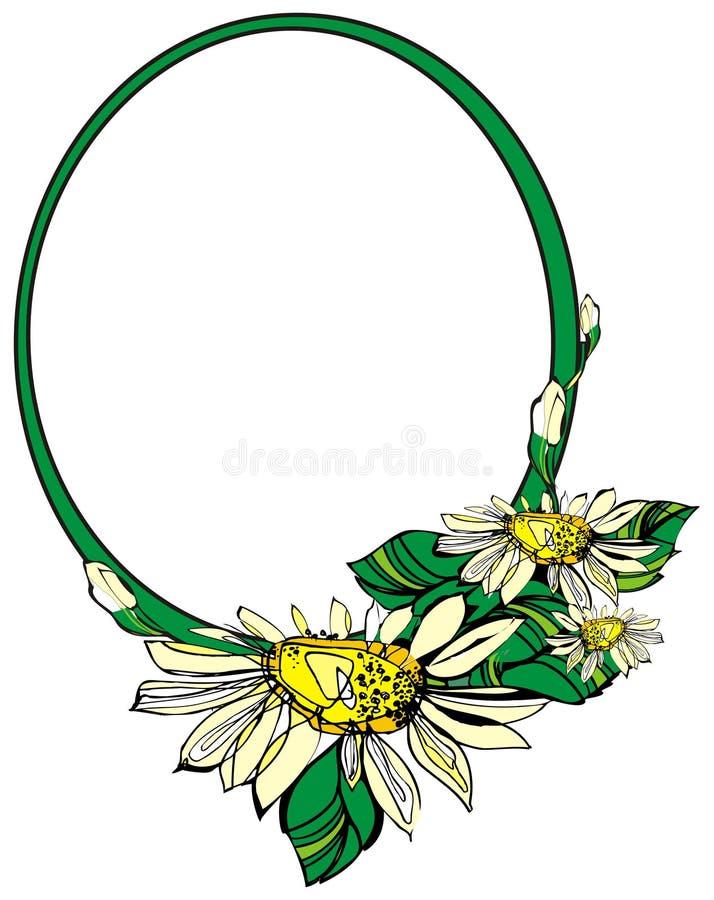 Vector frame bloem royalty-vrije illustratie