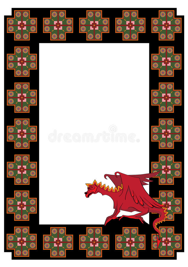 Download Vector frame with  dragon stock vector. Image of danger - 23440616