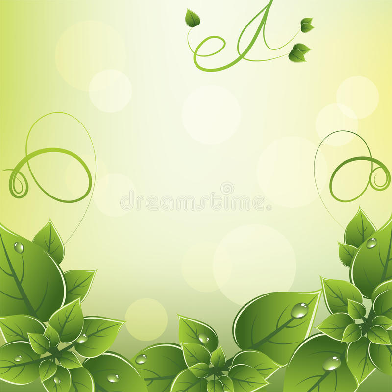 Download Vector Frame With Green Leaves Stock Vector - Image: 25031857