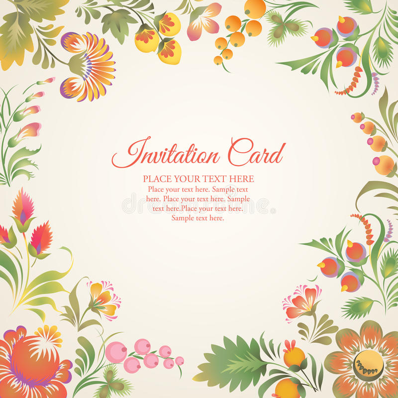 Free Vector Frame In Ukrainian Folk Style Royalty Free Stock Images - 50279189