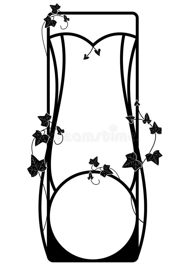 Vector frame with ivy vector illustration