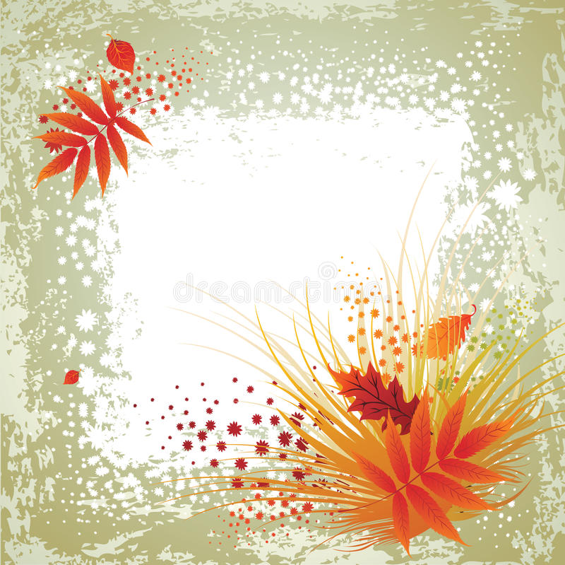 Vector frame with leafs. Thanksgiving. Vector frame with colorful autumn leafs. Thanksgiving (from my big Natural collection