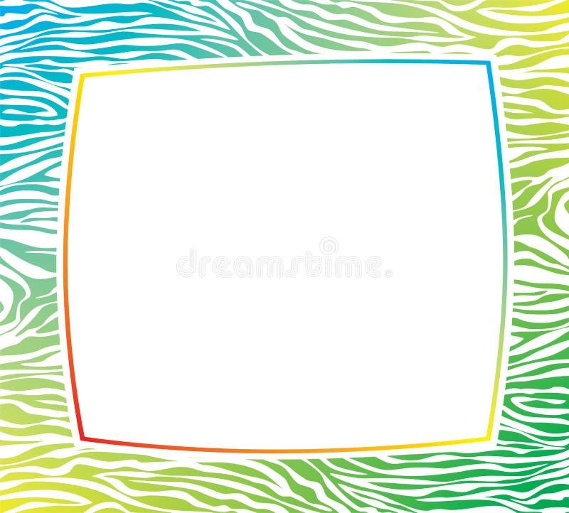 vector frame met abstracte gestreepte huidtextuur vector illustratie