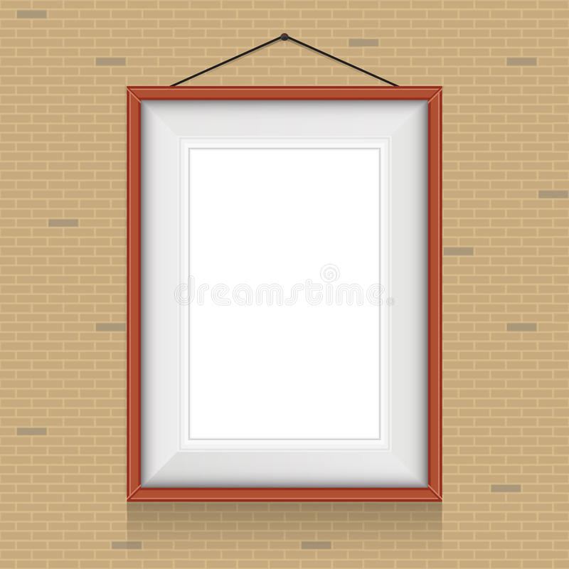 Download Vector Frame For Paintings On The Brick Wall. Stock Vector - Illustration of decoration, nobody: 38788436