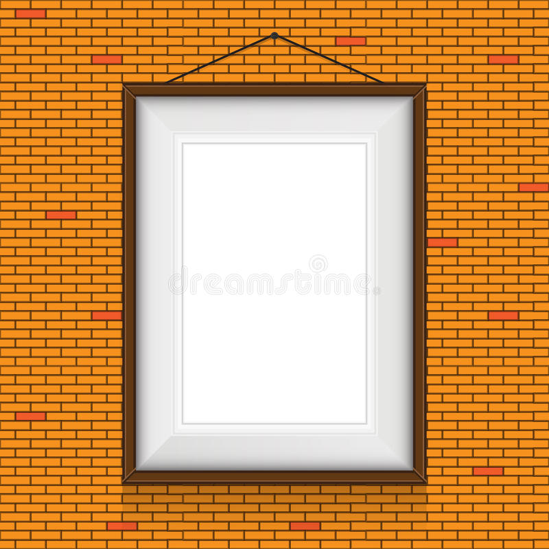 Download Vector Frame For Paintings On The Brick Wall. Stock Vector - Illustration: 38788461