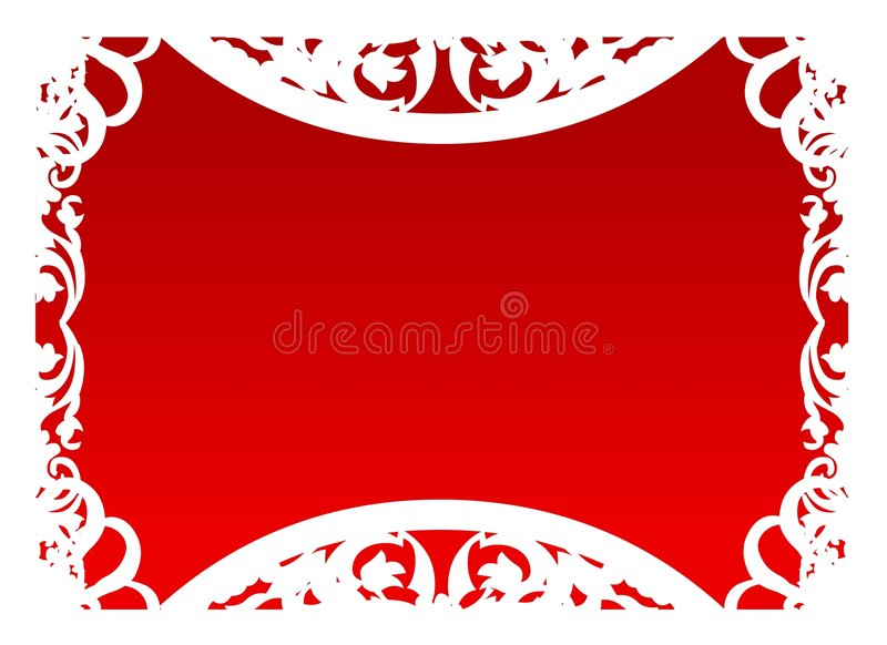 Vector - Frame in Rood stock foto's