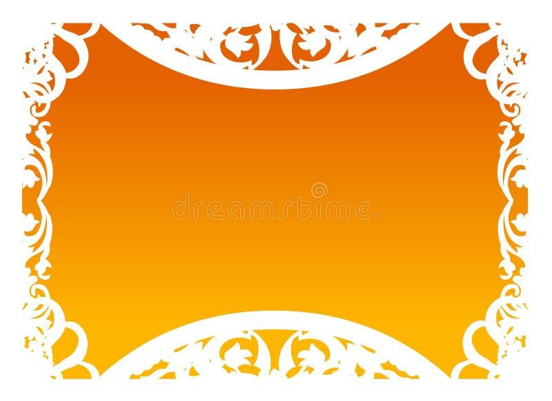 Vector - Frame in Sinaasappel royalty-vrije illustratie