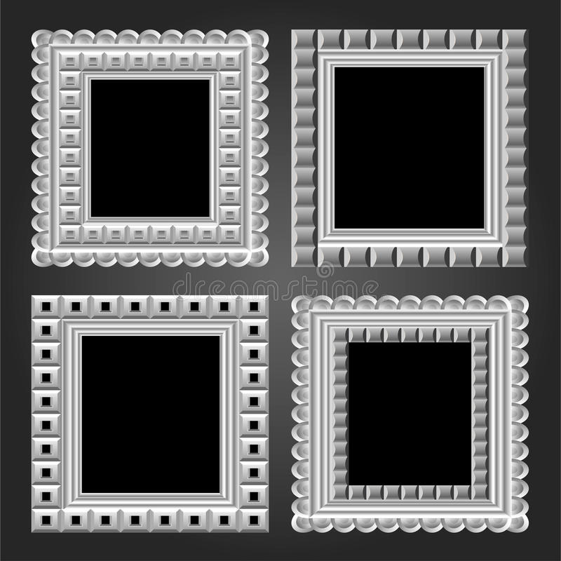 Vector Frame In White Color For Your Design Stock Images