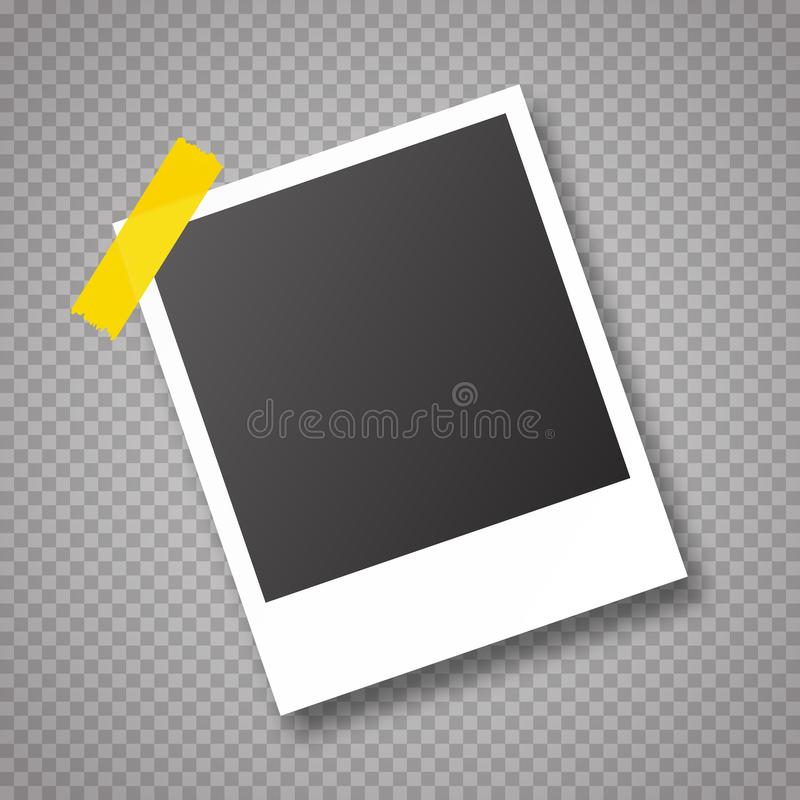 Vector frames photo collage royalty free illustration