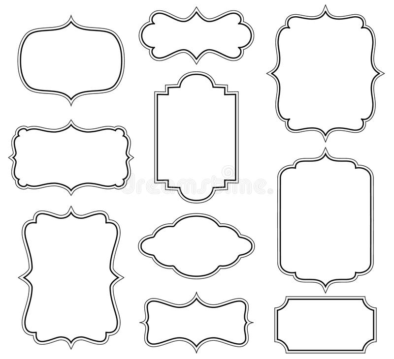Frame Design Line Art : Vector frames stock illustration of border
