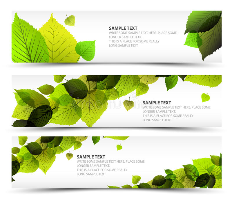 Download Vector Fresh Spring Horizontal Banners Stock Vector - Image: 22740432