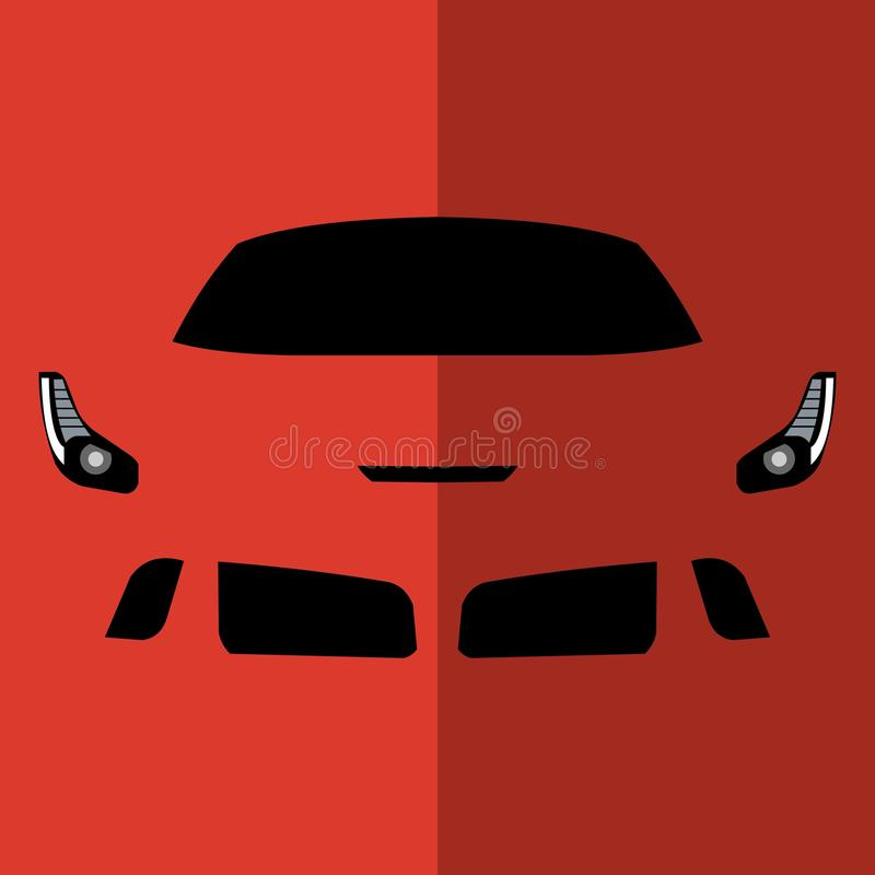 Vector front view red car stock photos