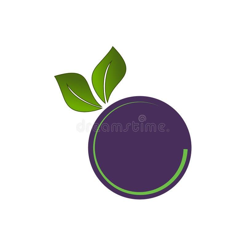 Vector fruit logo design simple minimal royalty free illustration