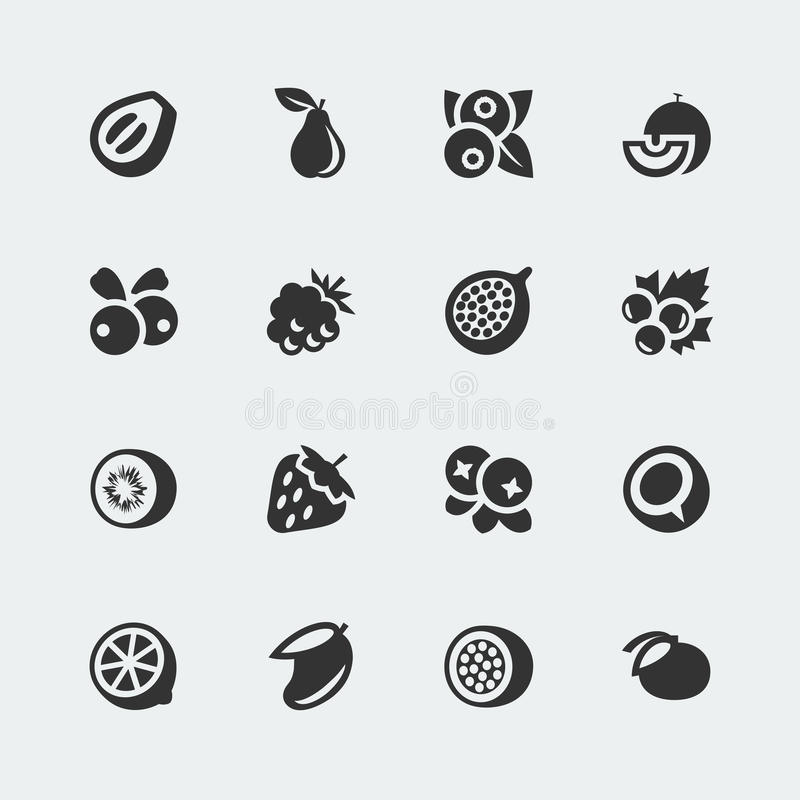 Free Vector Fruits And Berries Icons Set 2 Stock Photography - 38523072