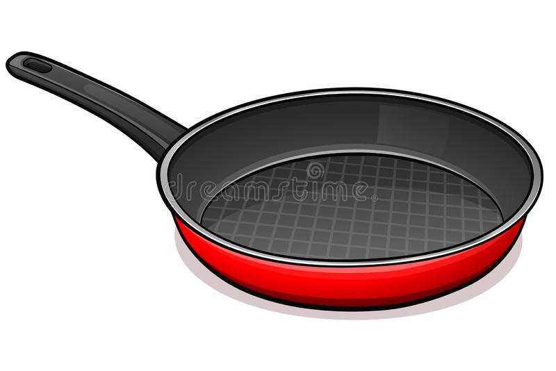 Vector frying pan design concept. Vector illustration of frying pan design concept royalty free illustration