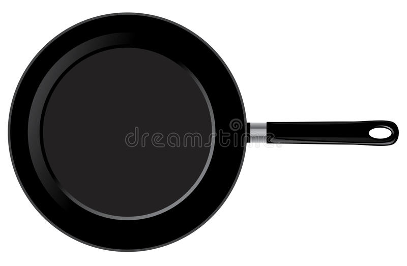 Vector frying pan. Vector illustration of a frying pan vector illustration