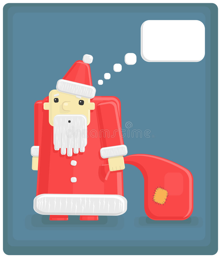 Vector funny Santa Claus royalty free stock photos