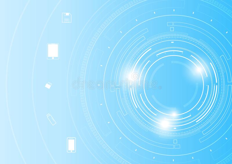 Vector future circle tech and technology telecommunication concept. royalty free illustration