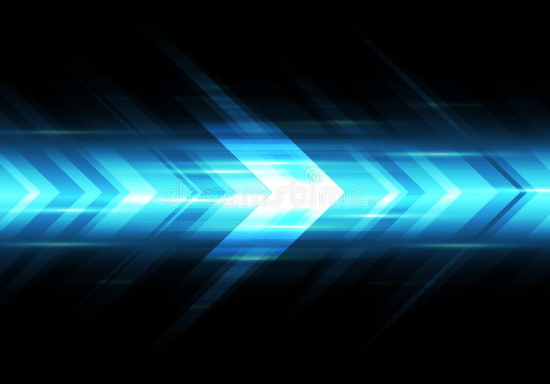 Vector futurista del fondo de la flecha de la velocidad de la tecnología ligera azul abstracta del poder libre illustration