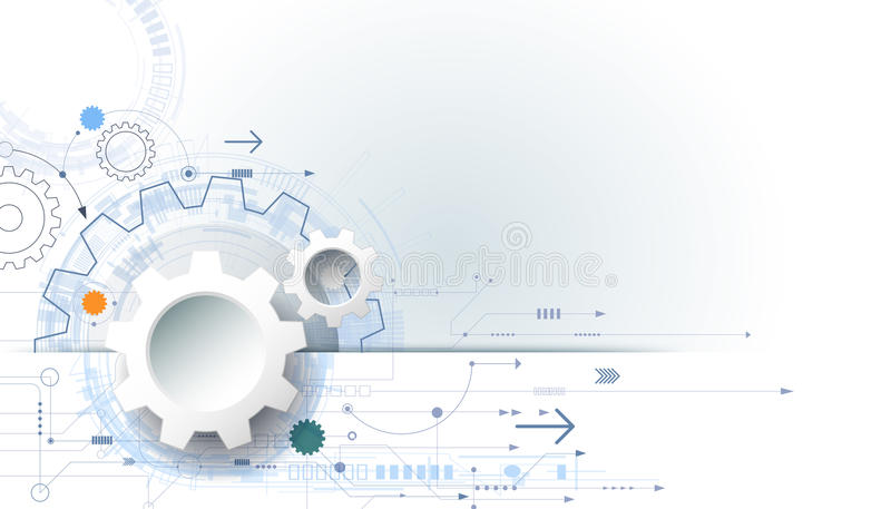 Futuristic Hi Tech Background Vector: Vector Futuristic Technology Background, 3d White Paper