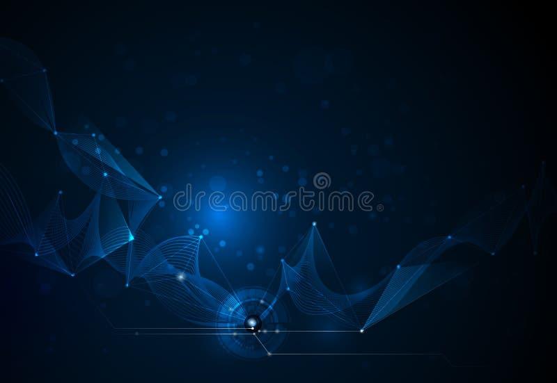 Vector futuristische illustratiesamenvatting stock illustratie