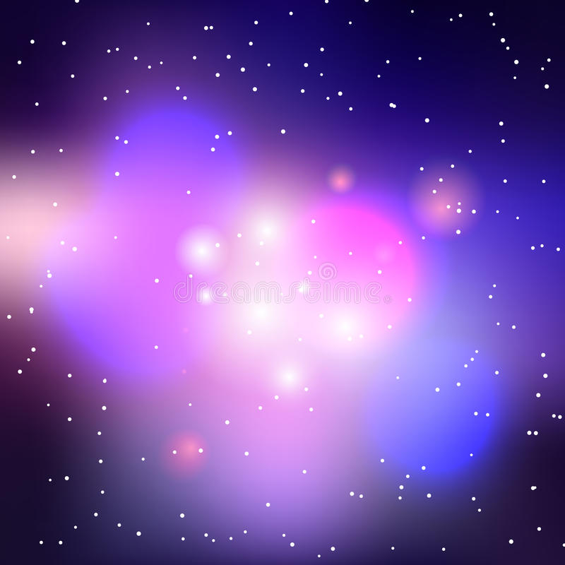 Vector Galaxy Background Stock Vector. Illustration Of