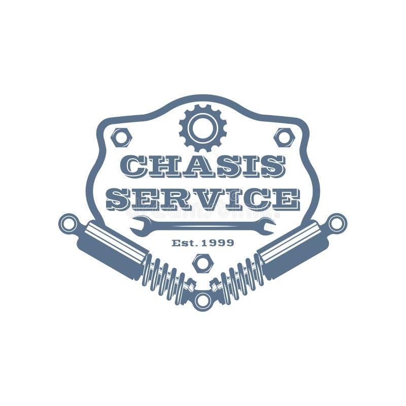 Vector garage service logo royalty free stock photography