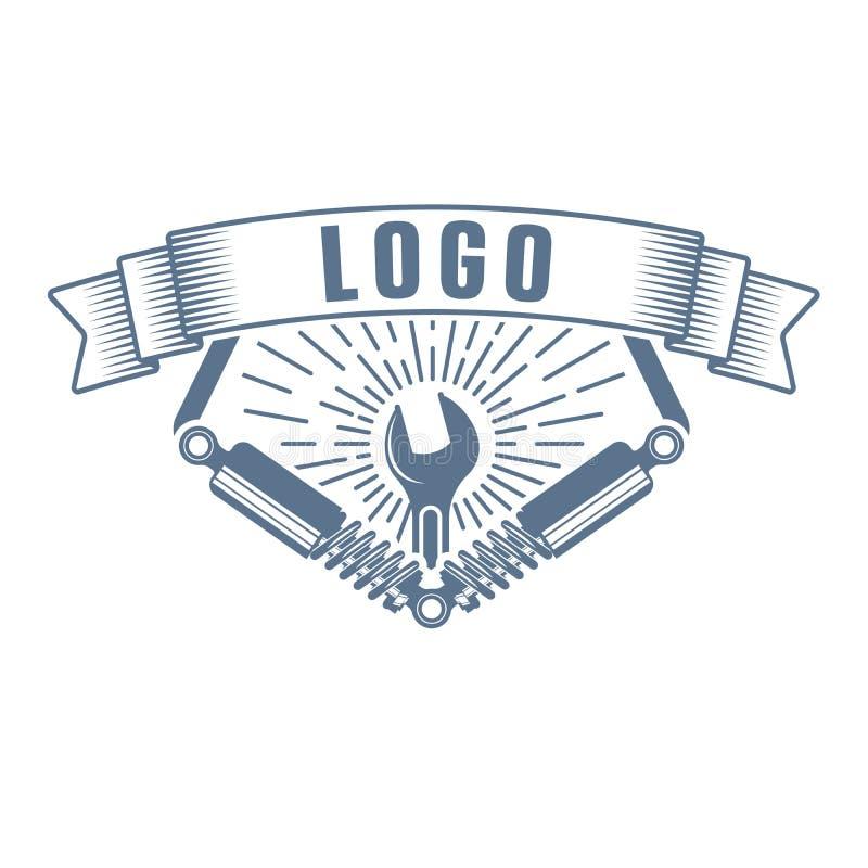 Vector garage service logo royalty free stock photos