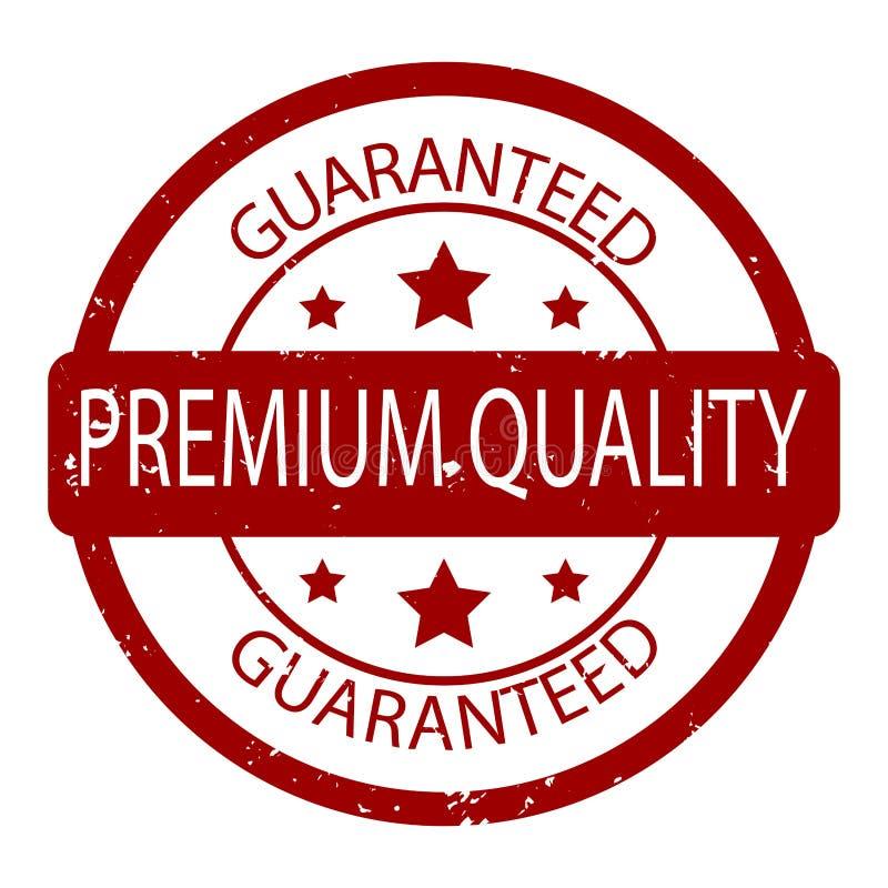 Vector garantizado calidad superior del sello de goma stock de ilustración
