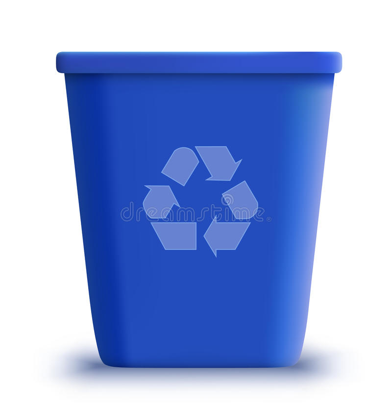 Vector garbage can recycle stock illustration