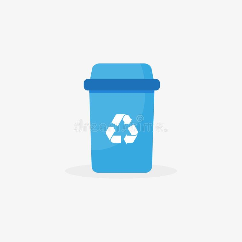 Vector garbage icon - recycle bin illustration - trash can symbol, basket sign vector illustration