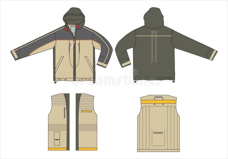 Outerwear VECTOR templates stock vector. Illustration of clothes ...