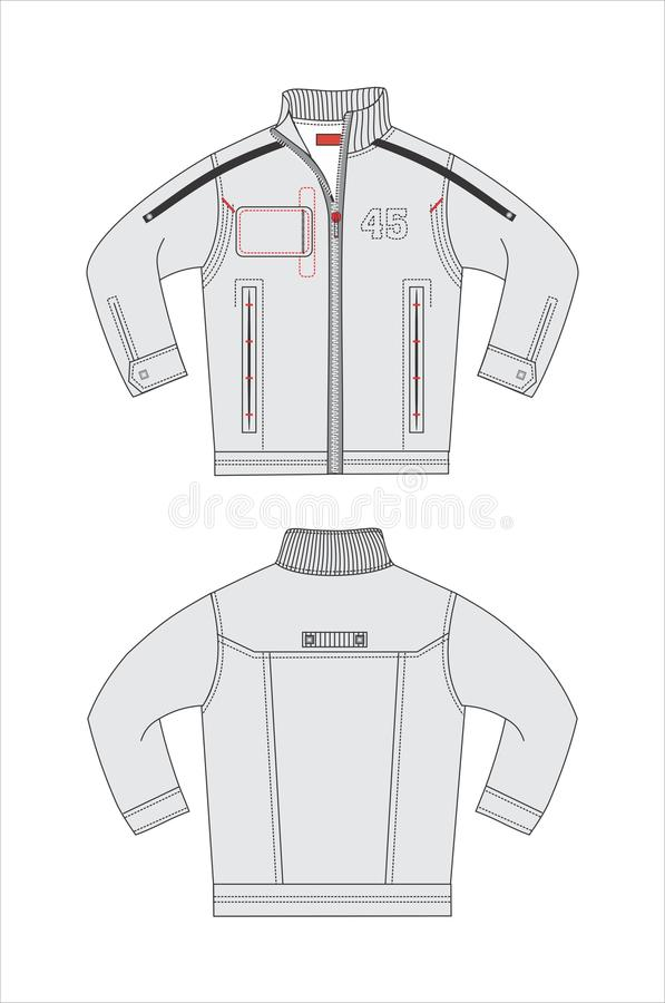 Outerwear VECTOR templates stock vector. Illustration of mens ...