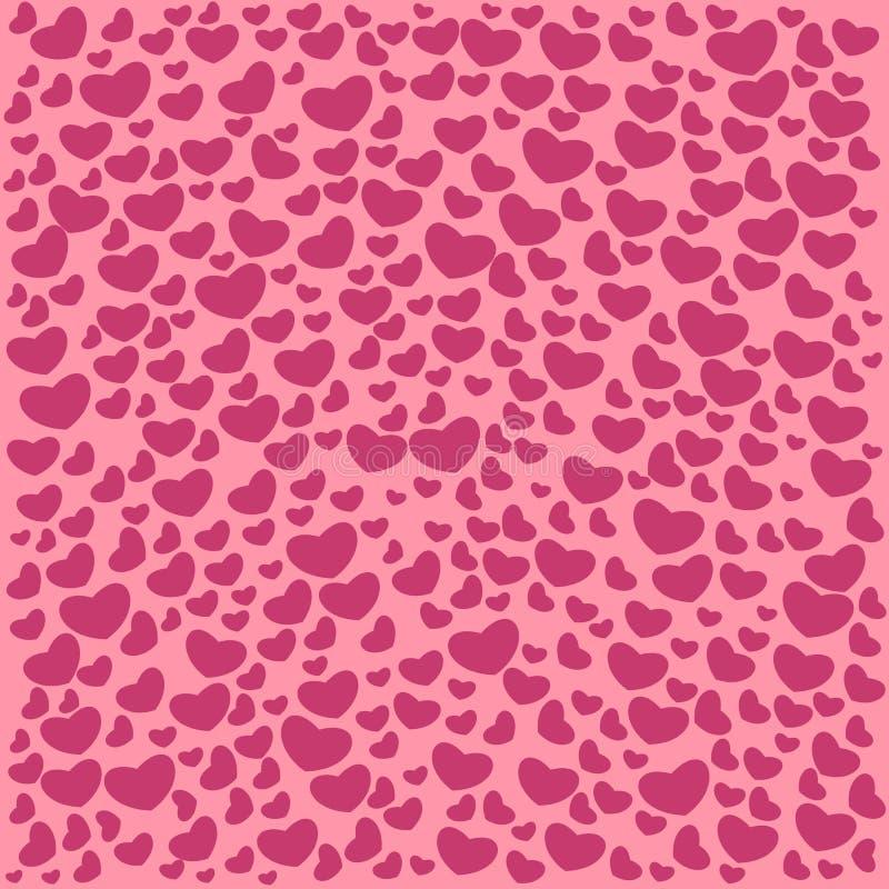 Vector geïllustreerde de dagpatronen van Valentine ` s De leuke achtergronden van het tegelhuwelijk met harten De kaart van de hu royalty-vrije illustratie