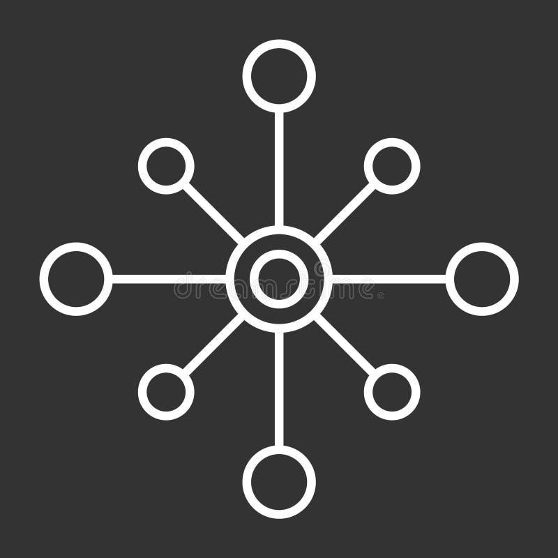 Vector geïsoleerd pictogram met meerdere kanalen op donkere achtergrond, embleemontwerp met meerdere kanalen stock illustratie