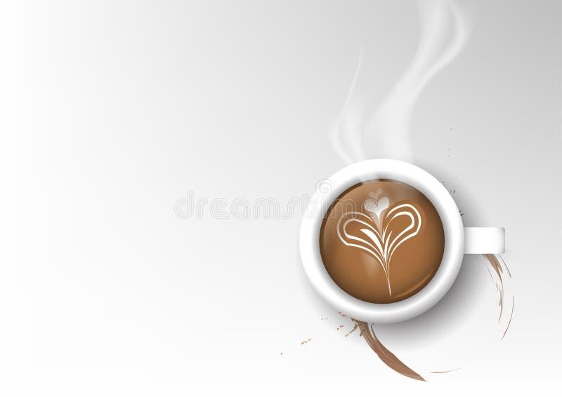 Vector geïsoleerde kop van koffieinzameling, latte vector illustratie