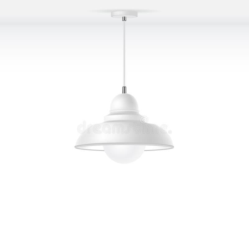 Vector Geïsoleerde Lamp stock illustratie