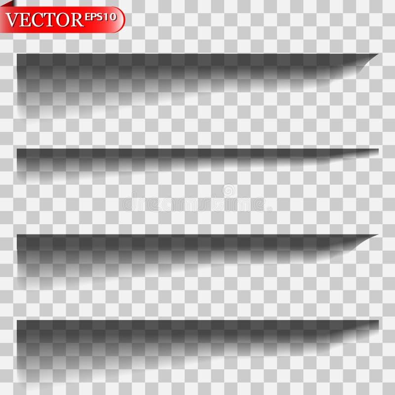 Vector geïsoleerde schaduwen royalty-vrije illustratie