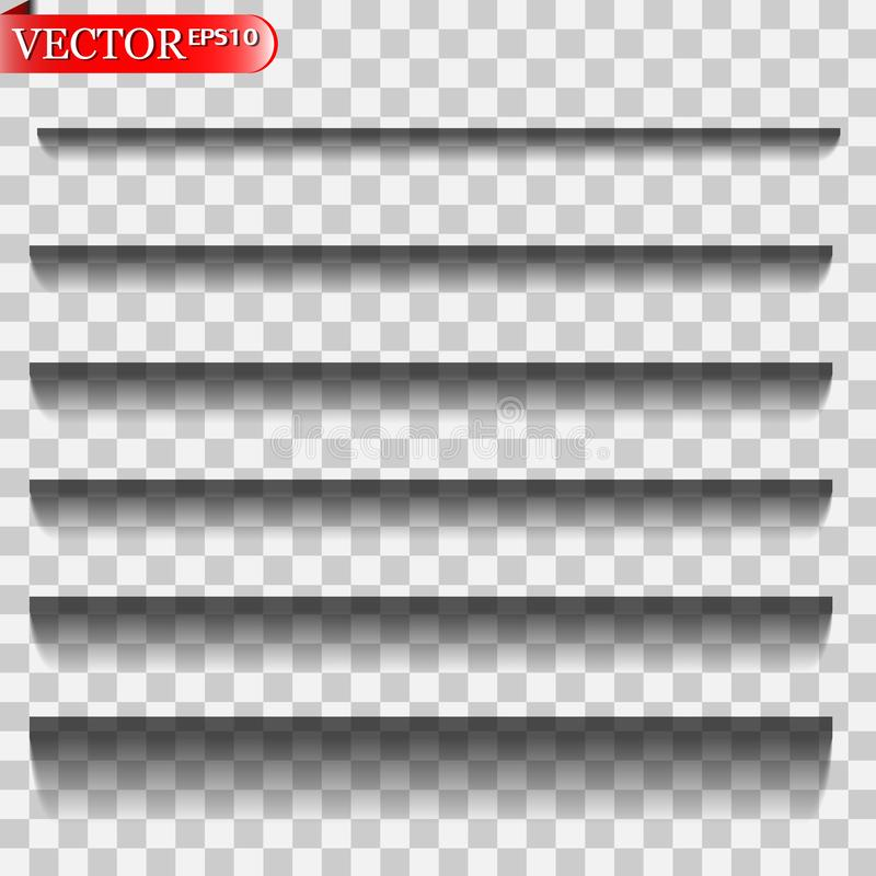 Vector geïsoleerde schaduwen vector illustratie